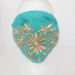 Face mask embroireded filtro women